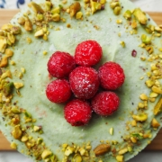 The Ultimate Dream - Raw Pistachio Avocado Coconut Ice-cream Cake