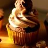 Golden Haze - Ferrero Rocher Cupcake with Nutella Swiss Buttercream Frosting