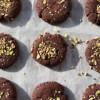 C for Celebrate - Flourless Mocha Pistachio Cookies