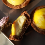 Sunflower Love - Japanese Mini Cheese Tart with Milo Crust
