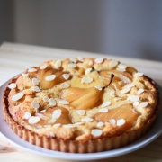 Drunk in Style - White Wine Poached Pear Almond Tart