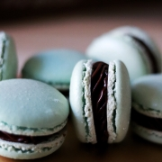 SO mint to be - Mint Chocolate Macarons with Mint Chocolate Ganache Filling