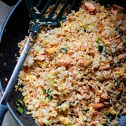 Japanese Salmon Fried Rice