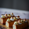 Earl Grey Honey Cake with Passion Fruit Curd and Toasted Italian Meringue