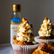 Honey Lemon Cupcake with Yuzu Swiss Meringue Buttercream and Honeycomb