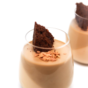 Yuen Yeung - Hong Kong Style Milk Tea & Coffee Panna Cotta with Flourless Chocolate Cake and Feuilletine