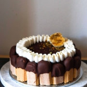 Banana Milk Chocolate Mousse Cake with Rum
