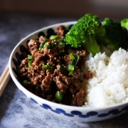 Easy Korean Beef and Broccoli with Garlic Pickled Cucumber