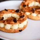 Paris Brest with Pistachio Praline Creme Patissiere Filling